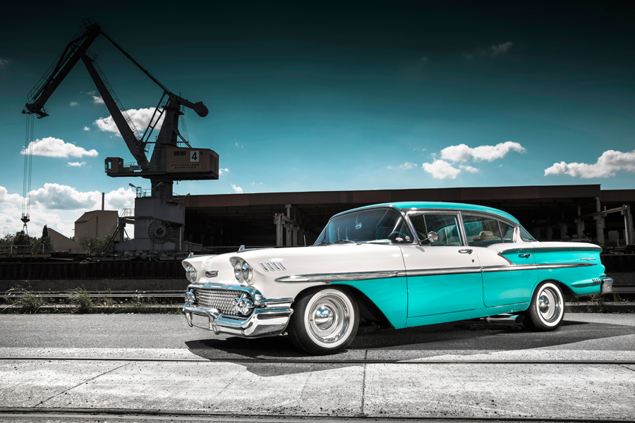 58er Chevrolet Bel Air 4-Door Sedan